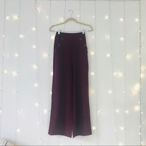 Band of Gypsies Pants - Band Of Gypsies Wine Wide Leg Pants